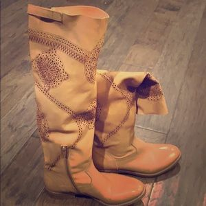 Gianluca Tambolini tall tan leather boots